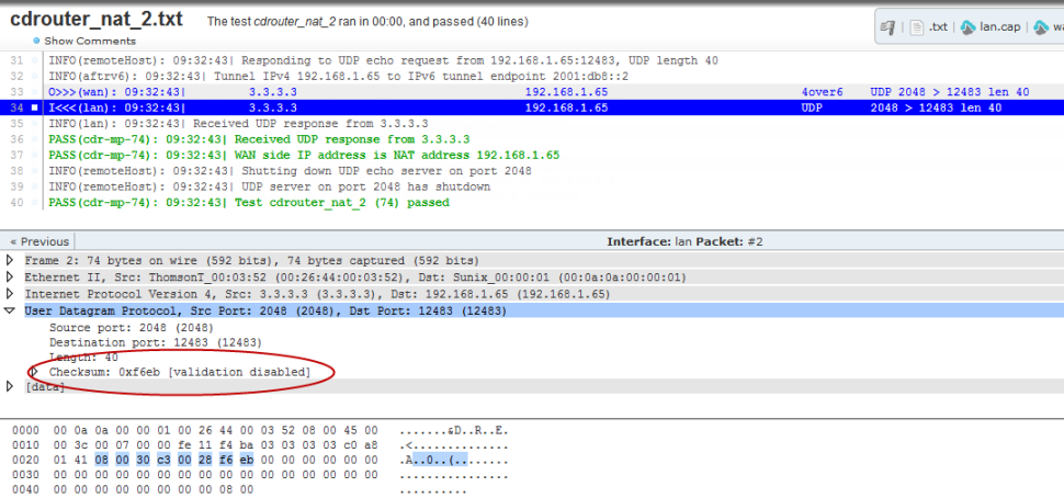 difference between udp and tcp checksum