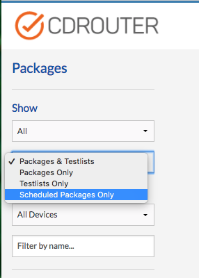 """Scheduled Package Filter Options"""